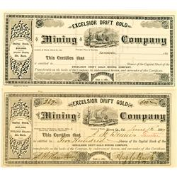Sierra County,CA - Excelsior Drift Gold Mining Co. Stock :