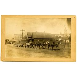 Truckee,CA - Nevada County - c. 1880 - Mule Train Pulling Timber Photograph :