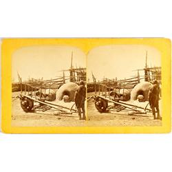 "CO - ""Cart Plough"" & Ovens Stereoview :"
