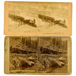 Central City,CO - Clear Creek, Gilpin County - c. 1880 - Railroad Stereoviews :
