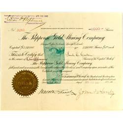Colorado Springs,CO - El Paso County - April 22, 1902 - Papoose Gold Mining Company Stock :