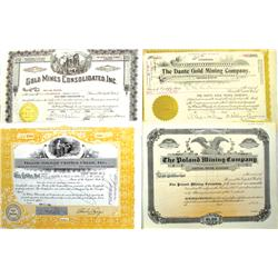 Cripple Creek,CO - Teller County - 1915-1980 - Cripple Creek Mining Stock Certificates :