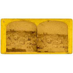 Denver,CO - Denver County - 1863 - Great Denver Fire Stereoview :