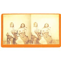 Denver,CO - Denver County - c1870 - Ute Couple Stereoview :