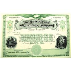 Leadville,CO - Lake County - c1900 - Maid of Erin Silver Mines Company Stock Certificate :