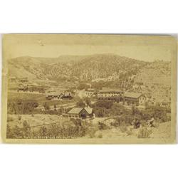 Manitou,CO - El Paso County - c1887 - Two Men Overlook View of Manitou, Soda Spring and Cliff House