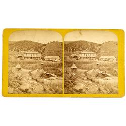 Manitou Springs,CO - El Paso County - c. 1875 - Cliff House Stereoview :