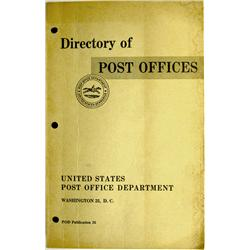Washington,DC - 1958 - Directory of Post Offices :