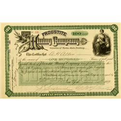 ID - June 14, 1889 - Proustite Mining Company Stock :