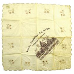 Chicago,IL - Cook County - 1893 - World's Columbian Exposition Handkerchief :