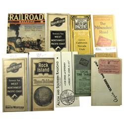 Various Midwest,IL - 1922-1941 - Railroad Time Tables :
