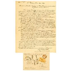 New Orleans,LA - Orleans Parish County - May 22, 1849 - French Letter :