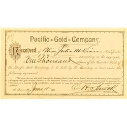 St. Louis,MO - Independent City County - Pacific Gold Co. Stock :