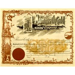Deer Lodge County,MT - 189x - Mammoth Gold Mining Company Stock :