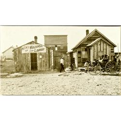 Kalispell,MT - Flathead County - c1885 - Agency of Kalispell Steam Laundry Photograph :