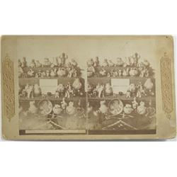 Acoma Pueblo,NM - Cibola County - No Date - Indian Pottery Stereoview :