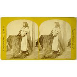 Arboles,NM - La Plata County - 1874 - Ute Woman of Northern New Mexico Portrait, Stereoview :