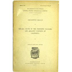 NV - 1903 - Descriptive Geology of Nevada South of the Fortieth Parallel and Adjacent Portions of Ca
