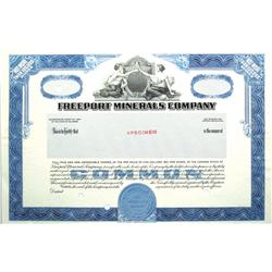 NV - Freeport Minerals Company Stock Certificate :