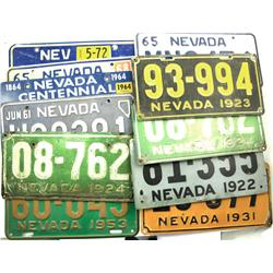 NV - 1922-1972 - License Plate Collection :