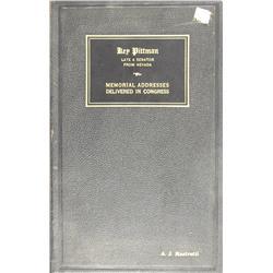 NV - 1942 - Memorial Address Copy for Key Pittman, Publication :
