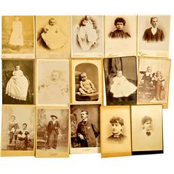 NV - 1875-1895 - Nevada Cabinet Card Classic Photograph Collection :