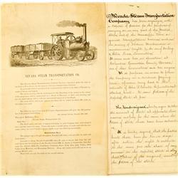 NV - 1880 - Nevada Steam Transportation Co. Memoranda :