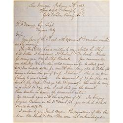 NV - Feb. 10, 1863 - White and Murphy Letter *Territorial* :