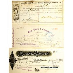 Austin,NV - Lander County - 1876, 1884, 1901 - Northern NV Checks :