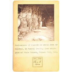 Carson City,NV - Ormsby County - January 6, 1900 - Mammoth Footprints Photograph :