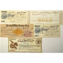Carson City,NV - Ormsby County - 1879-1899 - Northern Nevada Checks :