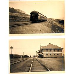 East Ely,NV - White Pine County - c1930 - Trains and Depot at East Ely and McGill Photographs :
