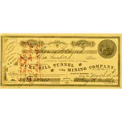 Eureka,NV - Ruby Hill Tunnel and Mining Co. Stock *Territorial* :