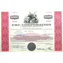 Gabbs,NV - Nye County - 1971 - FMC Corporation Stock Certificate :