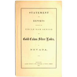 Gold Hill,NV - Storey County - 1865 - Statement and Reports Concerning Mines near Gold Hill :