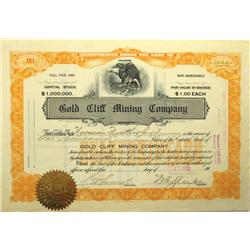 Goldfield,NV - Esmeralda County - 1913 - Gold Cliff Mining Company Stock Certificate :