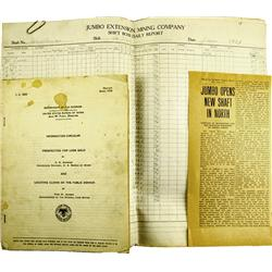 Goldfield,NV - Esmeralda County - 1914-1918 - Jumbo Extension Mining Company Documents :