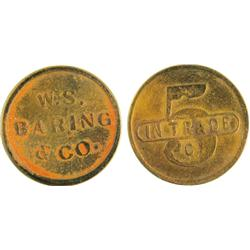 Goldfield,NV - Esmeralda - W.S BARING & CO. : 5 c -