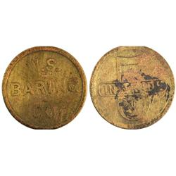 Goldfield,NV - Esmeralda County - W.S Baring Co. Token : 5 c -