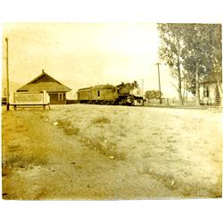 Minden,NV - Douglas County - c1920 - Train Through Minden Photograph :