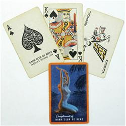 Reno,NV - Washoe County - 1975 - Bank Club of Nevada Playing Cards :