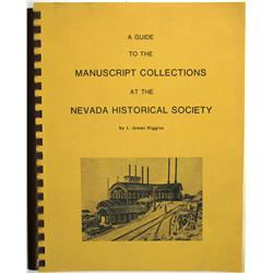 Reno,NV - Washoe County - 1975 - Manuscript Collections at the Nevada Historical Society :