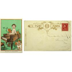 Rochester,NV - Pershing County - 1898 - Baby Grand Chromolitho Post Card :