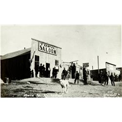 Rochester,NV - Pershing County - c1913 - Topic Saloon in Rochester RPC copy :