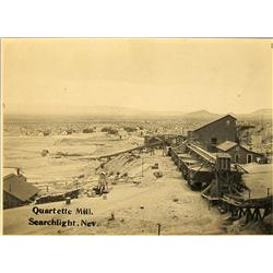 Searchlight,NV - Lincoln County - c1907 - Quartette Mill Photograph :