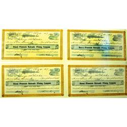Tonopah,NV - Nye County - 1907 - Round Mountain Hydraulic Mining Company Stock Certificates :