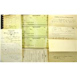 Tonopah,NV - Nye County - 1905-1953 - Tonopah Business Documents :