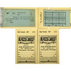 Tonopah,NV - Nye County - c1935 - Tonopah Ice Coupon Booklets :