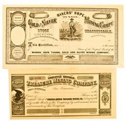 Treasure Hill,NV - White Pine County - Treasure Hill Area Stock Certificates (2) :
