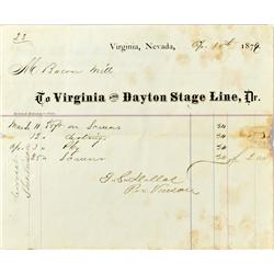 Virginia,NV - Ormsby County - 1877 - Pacific Mill and Mining Company Voucher :